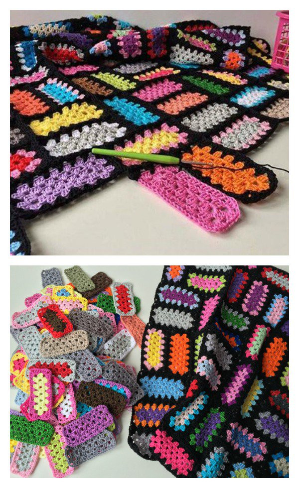 Awesome Rectangle Granny Square Free Crochet Pattern Crochet Granny Squares together Of Marvelous 48 Pictures Crochet Granny Squares together