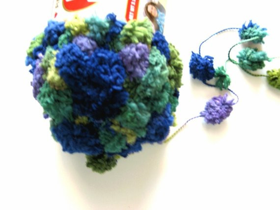 Red Heart Pomp a doodle yarn African Violet by crochetgal