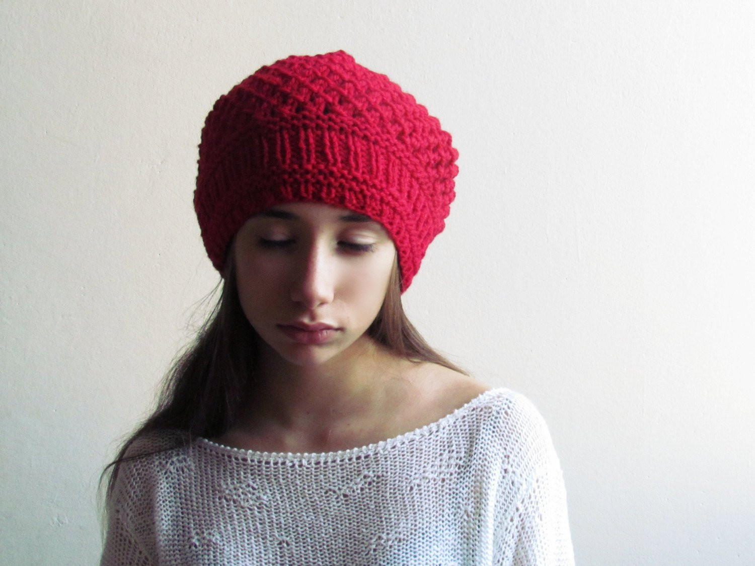 Awesome Red Slouchy Beanie Winter Hat Slouchy Hat Red Beanie Red Slouchy Beanie Of New 50 Models Red Slouchy Beanie