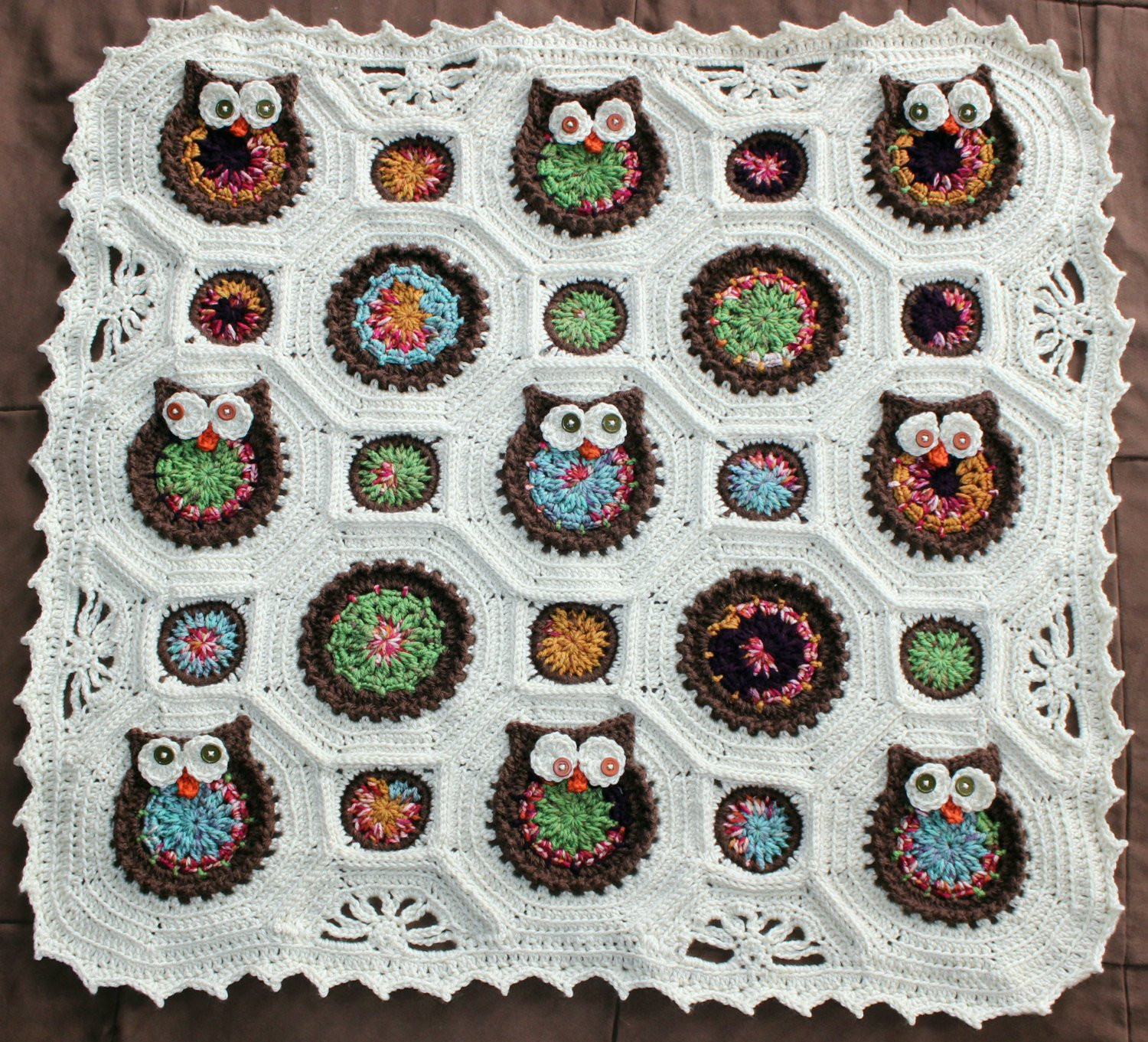 Awesome Reserved for Tracey Dispoto Owl Crochet Baby Blanket Crochet Owl Baby Blanket Of Brilliant 48 Ideas Crochet Owl Baby Blanket