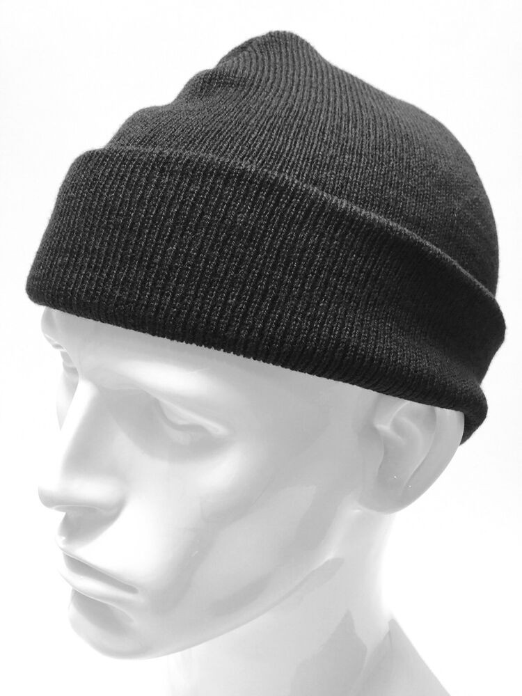 Awesome Retro Black Mens Bob Knitted Beanie Hat Cap Military Army Mens Knit Caps Of Delightful 41 Ideas Mens Knit Caps