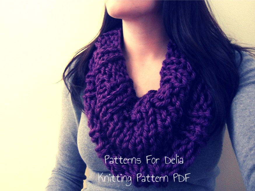 Awesome Reversible Infinity Cowl Knitting Pattern Easy Beginner Easy Scarf Knitting Patterns for Beginners Of Adorable 49 Ideas Easy Scarf Knitting Patterns for Beginners