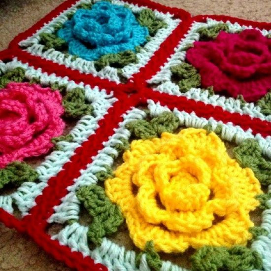 Awesome Rose Flower Granny Square Free Crochet Pattern Crochet Flower Granny Square Of Fresh 47 Pictures Crochet Flower Granny Square