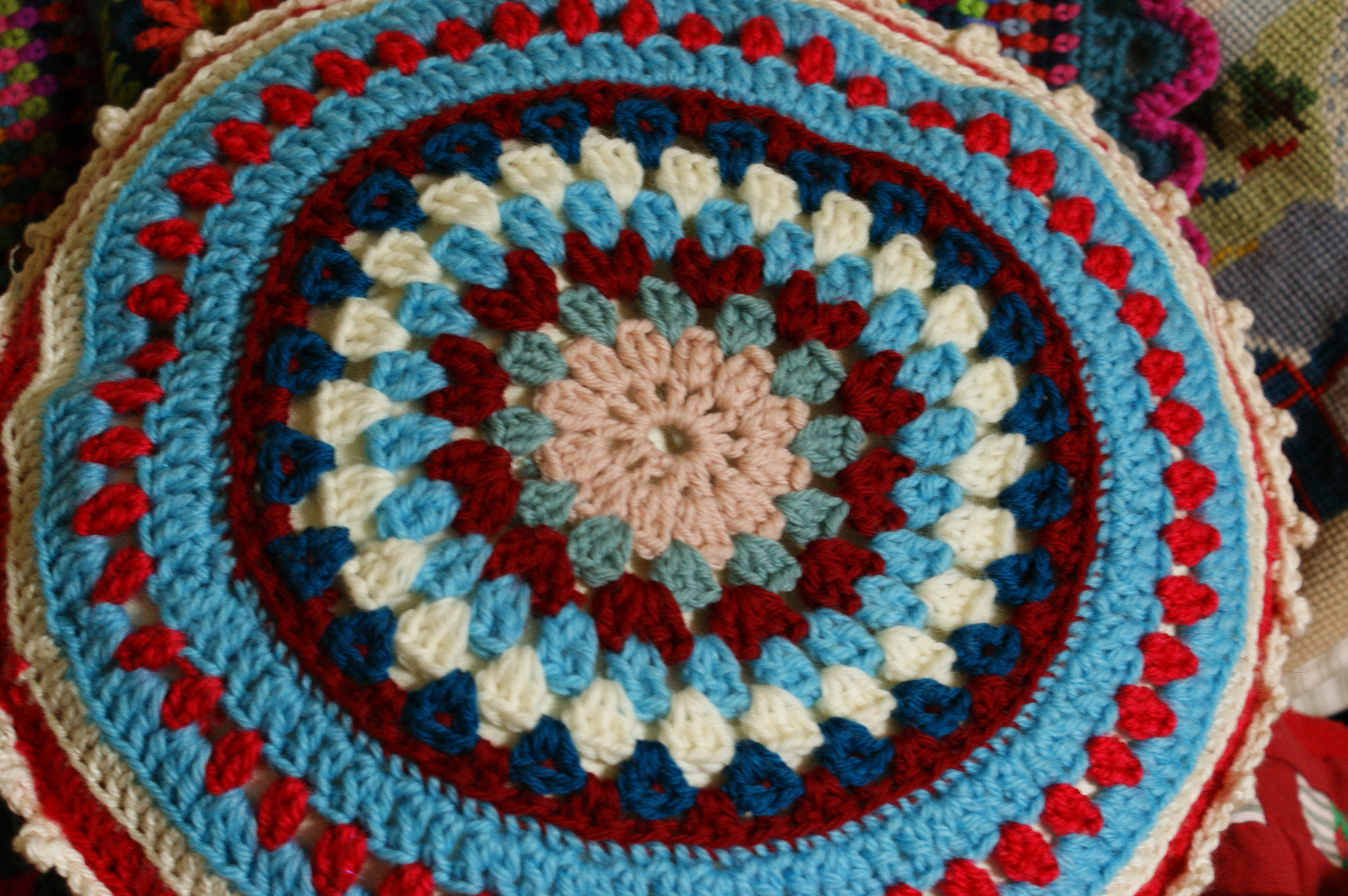 Awesome Round Crochet Cushion Round Crochet Pattern Of Unique 50 Models Round Crochet Pattern