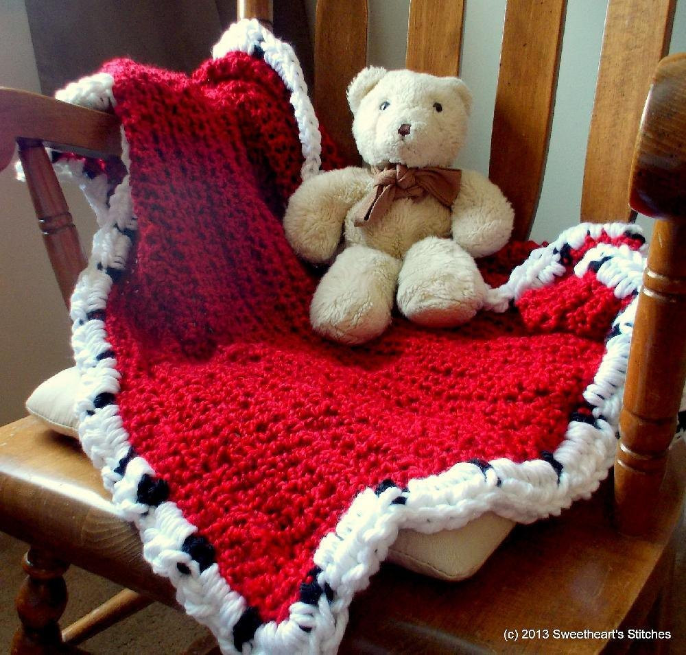 Royal Baby Ermine Robe Afghan Crochet pattern by Emily