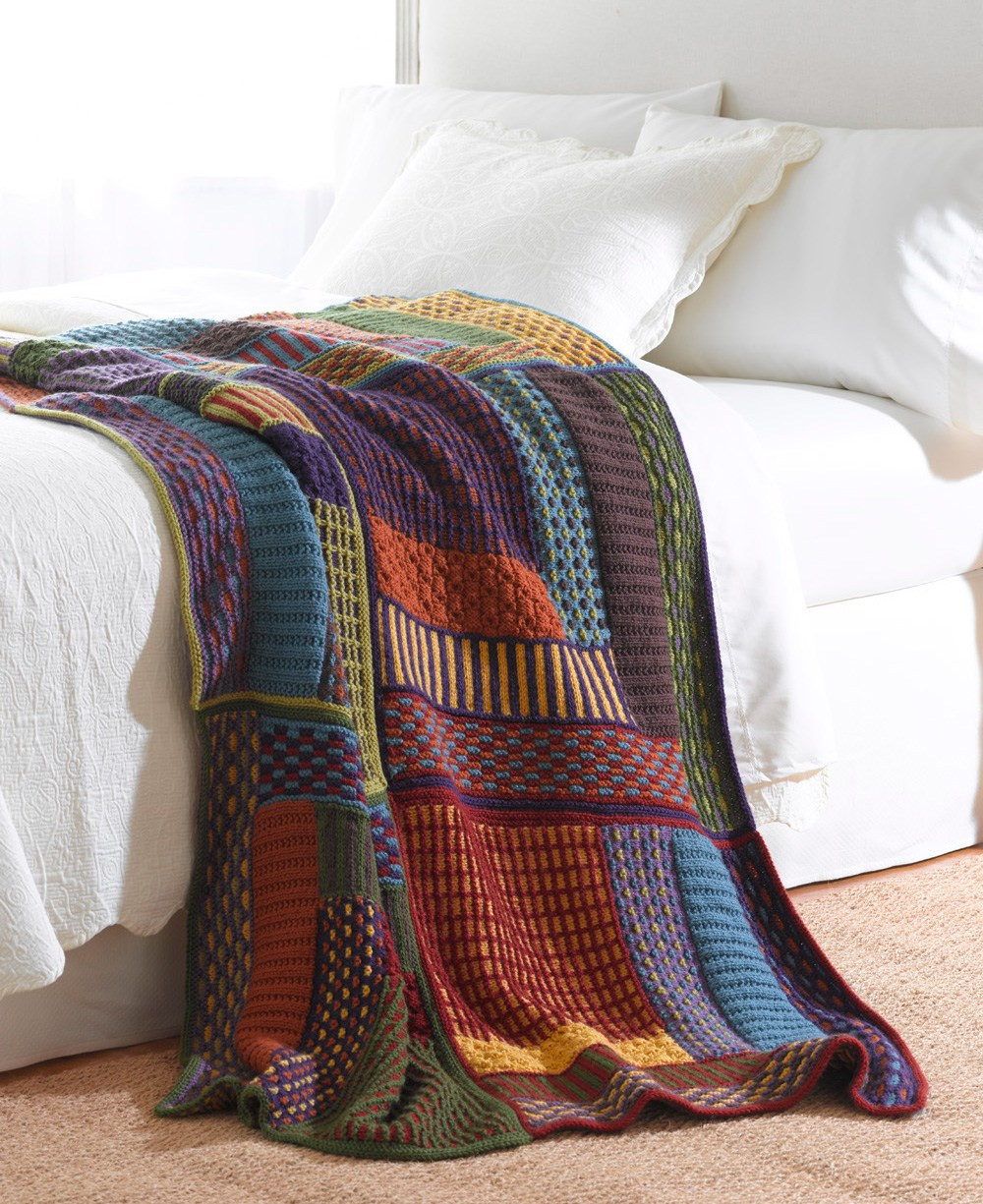 Awesome Sampler Knitting Patterns for Afghans Accessories and Knitted Throw Pattern Of Awesome 45 Photos Knitted Throw Pattern
