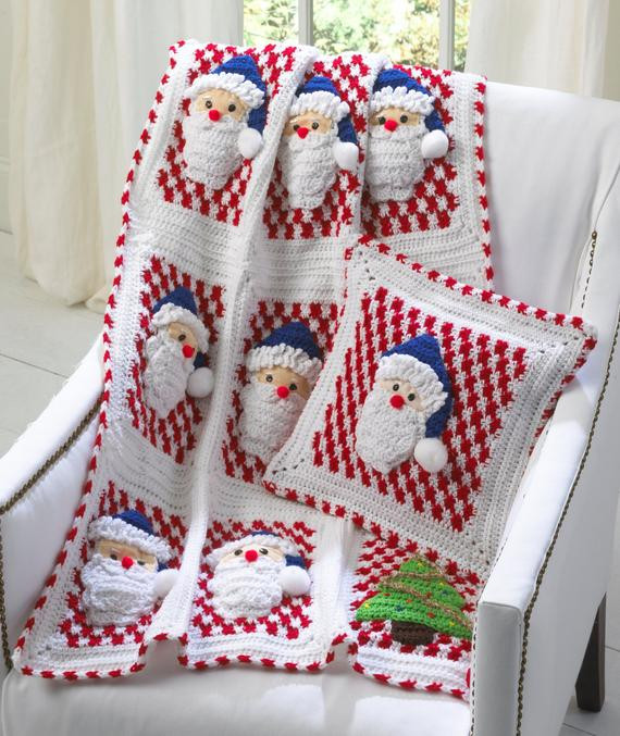 Awesome Santa Afghan Wall Hanging and Pillow Crochet Pattern Pdf Free Christmas Crochet Afghan Patterns Of Luxury 43 Ideas Free Christmas Crochet Afghan Patterns
