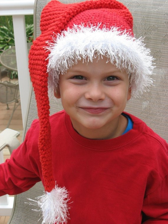 Awesome Santa Baby Long Tassle Santa Hat Crochet Pattern Pdf Santa Hat Pattern Of Awesome Items Similar to Knitting Pattern Santa Christmas Hat or Santa Hat Pattern