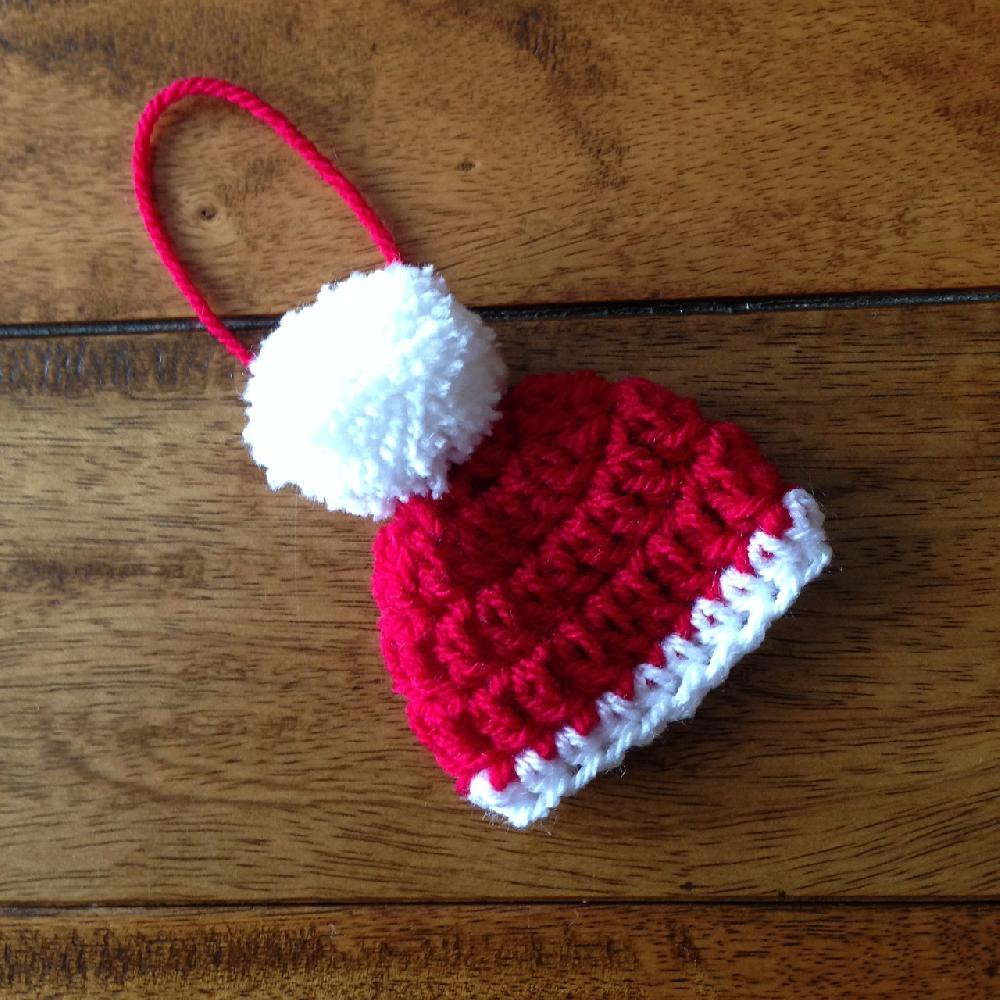 Awesome Santa Hat Christmas Decoration Crochet Pattern by Little Crochet Decor _crochet Decor