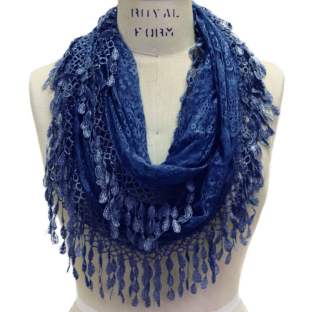 Awesome Scarfand S Lace Infinity Scarf with Fringes Lace Infinity Scarf Of Charming 45 Ideas Lace Infinity Scarf