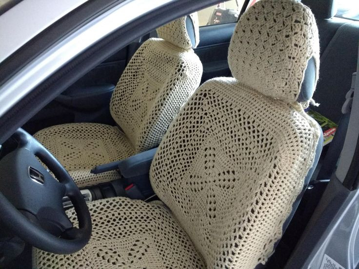 Awesome Set Of 6 Crochet Car Front Seat Covers Oatmeal Crochet Seat Cover Of Beautiful Crochet Car Front Seat Cover Aran Grey Heather Ccfsc1a Crochet Seat Cover