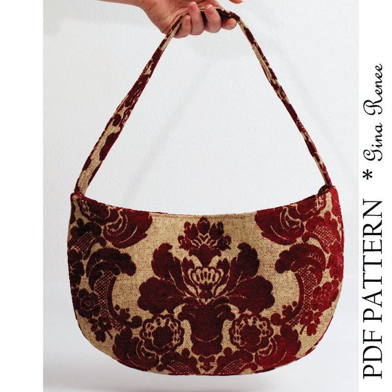 Awesome Shoulder Bag Pattern Purse Pattern Pdf Pattern Shoulder Bag Patterns Of Contemporary 47 Pictures Shoulder Bag Patterns