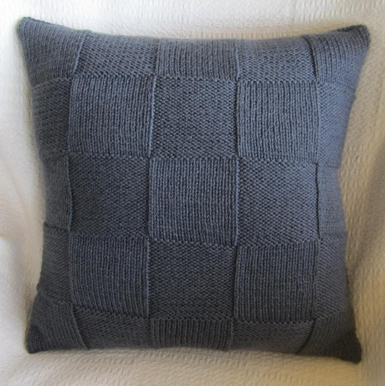 Awesome Simple Squares 20×20 Pillow Cover by Ladyshipdesigns Craftsy Knit Pillow Cover Pattern Of Amazing 45 Pics Knit Pillow Cover Pattern