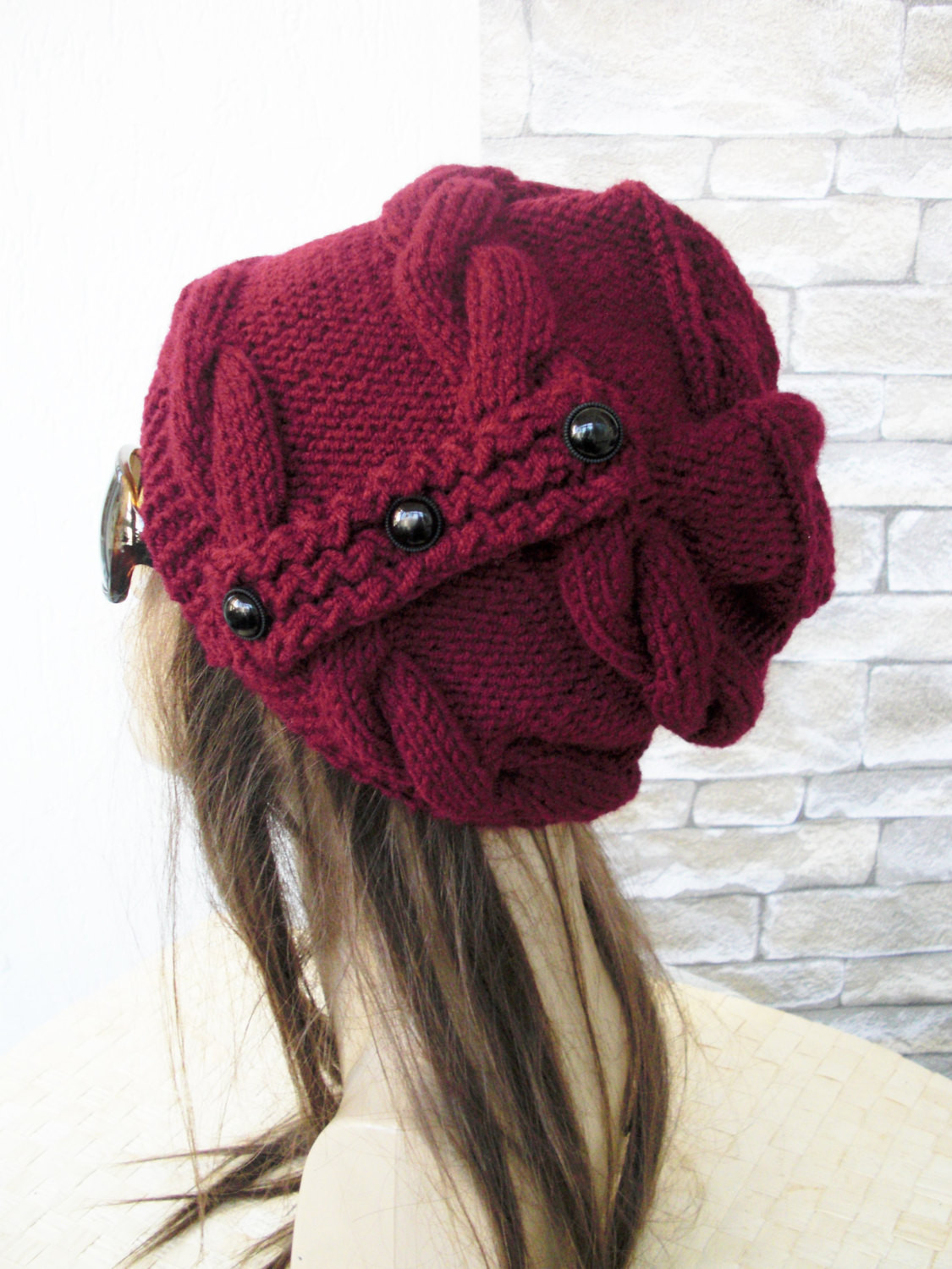 Awesome Slouchy Hat Winter Hat Knit Hat Womens Hat Burgundy Slouchy Winter Hat Of Top 47 Models Slouchy Winter Hat