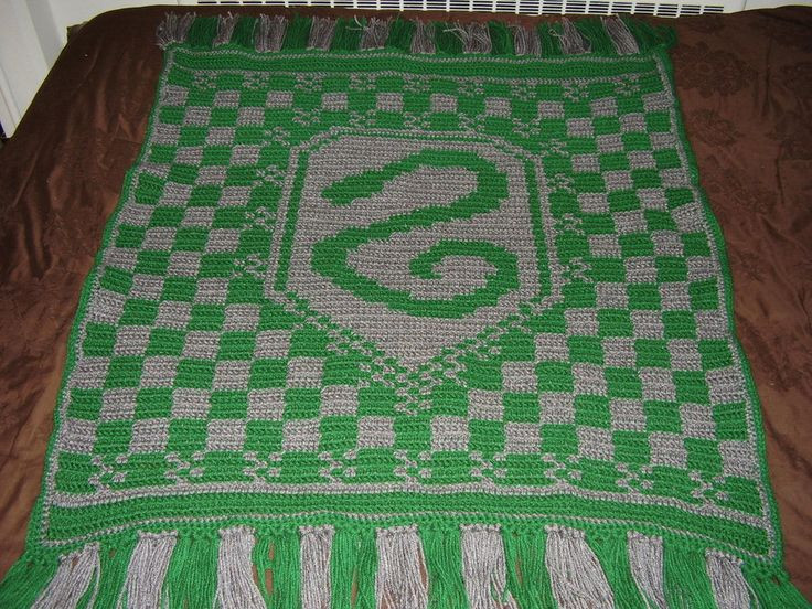 Awesome Slytherin Blanket by Shywalkerviantart On Harry Potter Crochet Blanket Of Luxury 42 Models Harry Potter Crochet Blanket