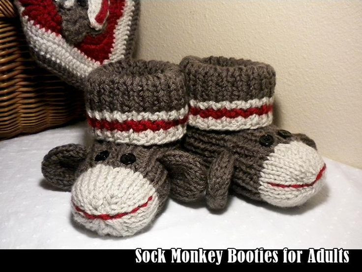 Awesome sock Monkey Adult Booties Knitted Booties for Adults Of Delightful 47 Images Knitted Booties for Adults