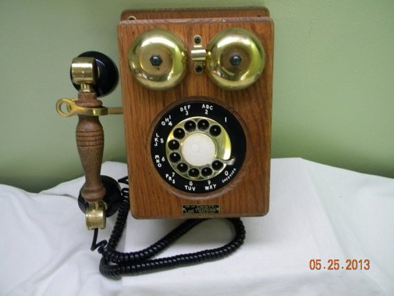 Awesome sold to Mark County Line Rotary Telephone Old Old Fashioned Wall Phone Of Charming 47 Models Old Fashioned Wall Phone