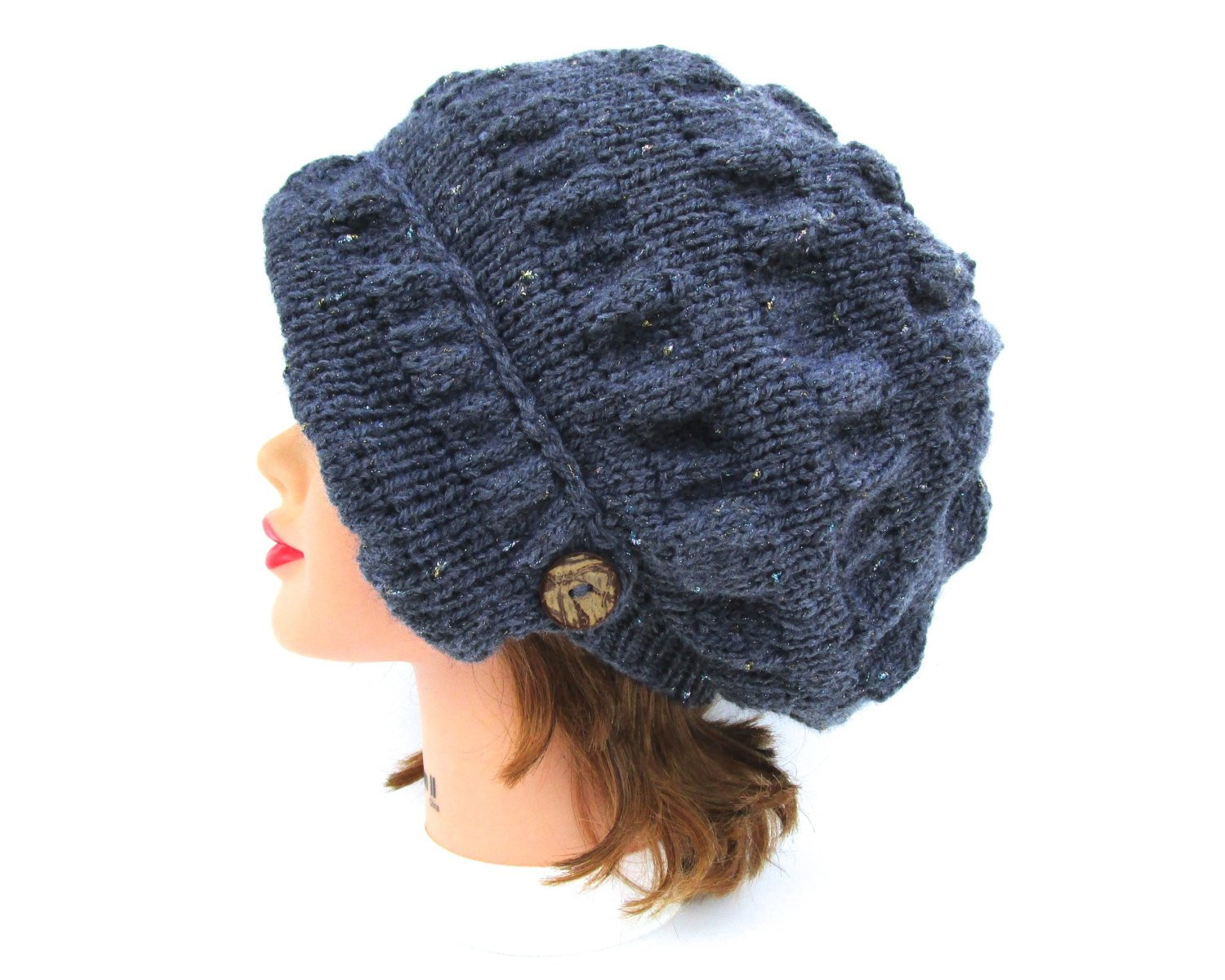 Awesome Sparkly Grey Cloche Knit Hat with button Women S Knit Cloche Hat Of Attractive 40 Photos Knit Cloche Hat