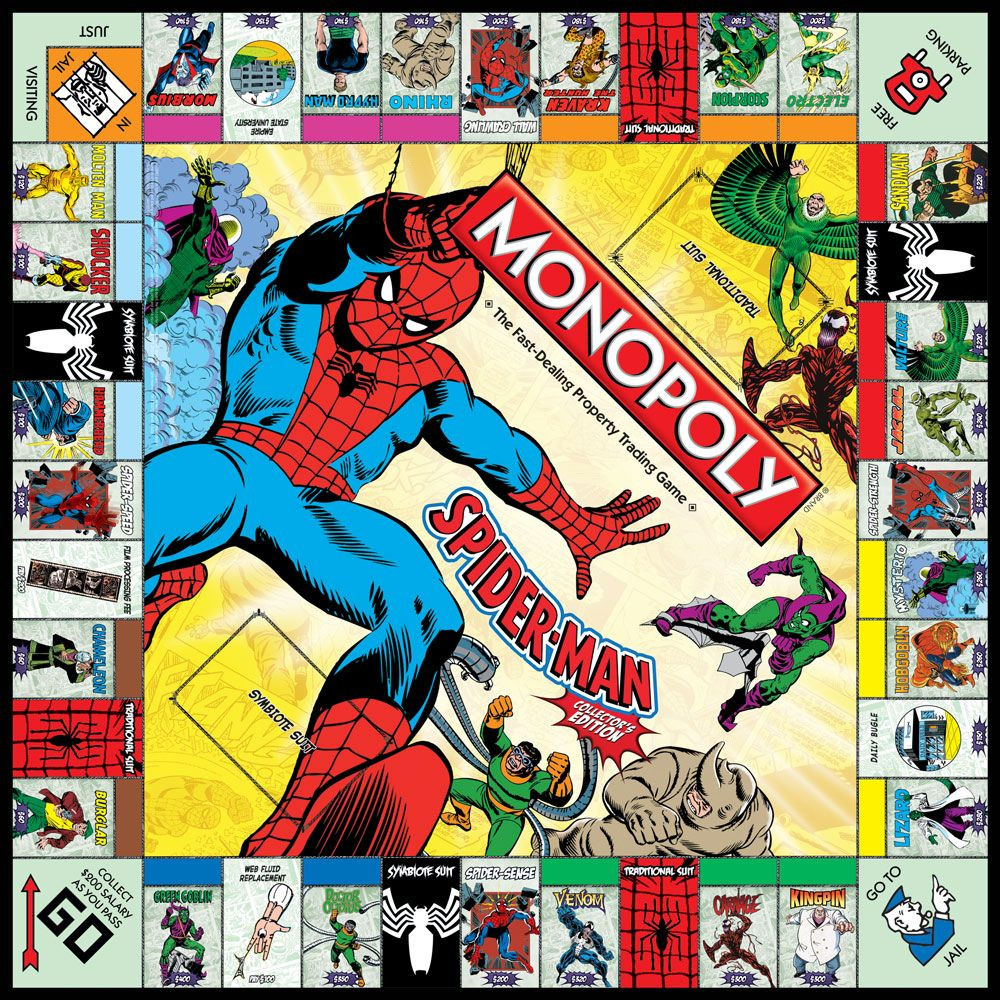 Awesome Spider Man Collector S Edition Monopoly Board Game Cool Monopoly Games Of Charming 45 Images Cool Monopoly Games