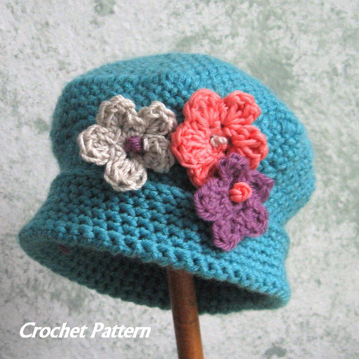 Awesome Spring Baby Crochet Hat Pattern with Flower Trim Instant toddler Crochet Hat Pattern with Flower Of Luxury 50 Ideas toddler Crochet Hat Pattern with Flower
