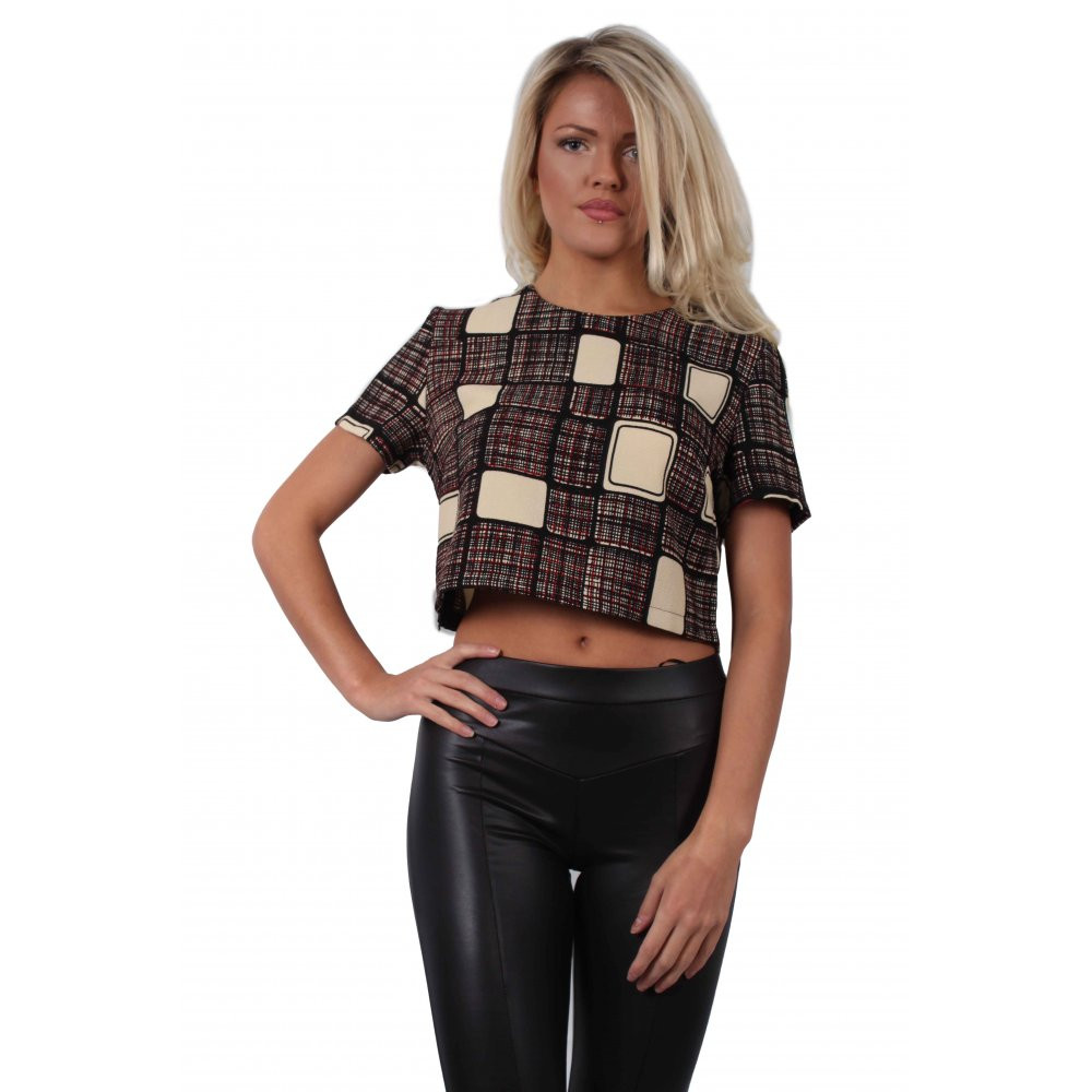 Awesome Square Pattern Crop top From Parisia Crop top Pattern Of Amazing 41 Models Crop top Pattern
