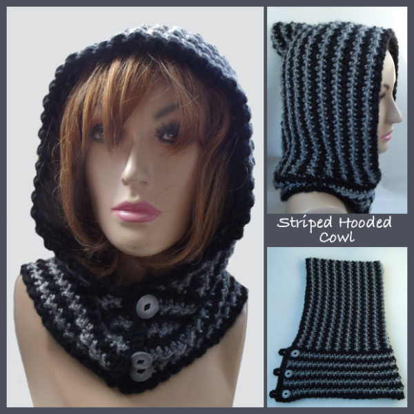 Awesome Striped Hooded Cowl Free Crochet Pattern Free Crochet Cowl Patterns Of Marvelous 40 Images Free Crochet Cowl Patterns