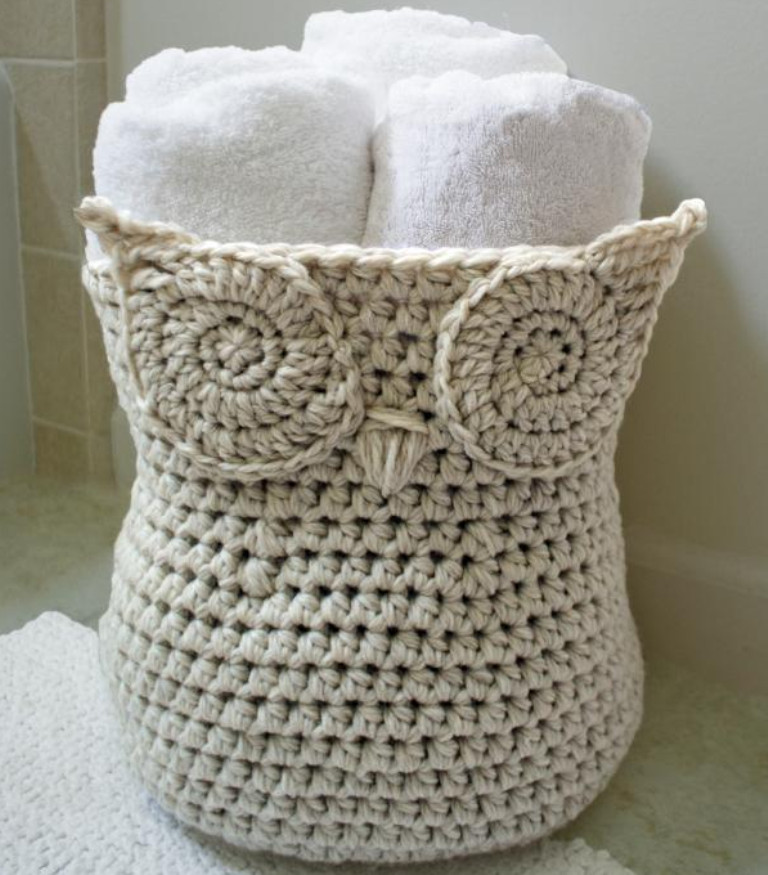 Awesome Stunning Crochet Patterns to Decorate Your Home & Make Crochet Owl Basket Of Brilliant 47 Photos Crochet Owl Basket