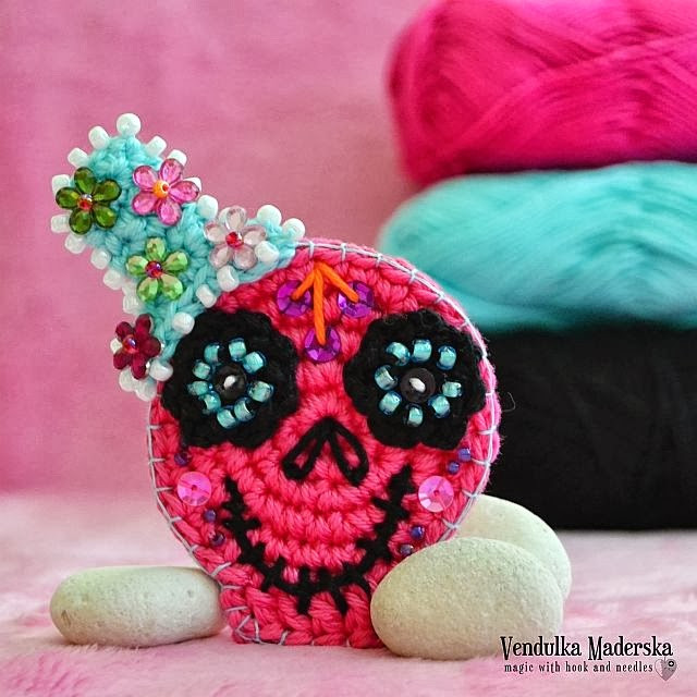 Awesome Sugar Skull Magic with Hook and Needles Crochet Sugar Skull Of Incredible 47 Pictures Crochet Sugar Skull