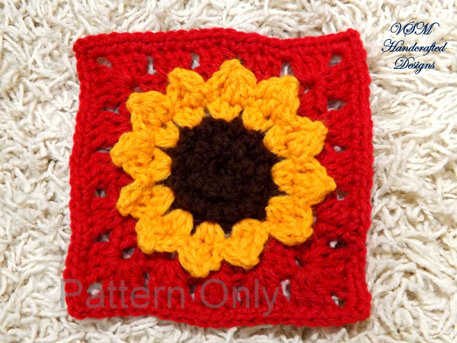 Awesome Sunflower Granny Square Crochet Pattern W 3d Texture Details Crochet Sunflower Granny Square Of Delightful 41 Images Crochet Sunflower Granny Square