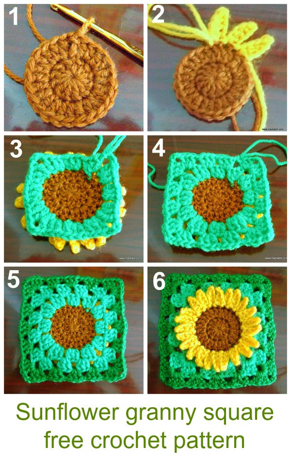 Awesome Sunflower Granny Square Free Crochet Pattern Sunflower Crochet Blanket Of Elegant Hand Crocheted Sunflower Granny Square Blanket Afghan Throw Sunflower Crochet Blanket