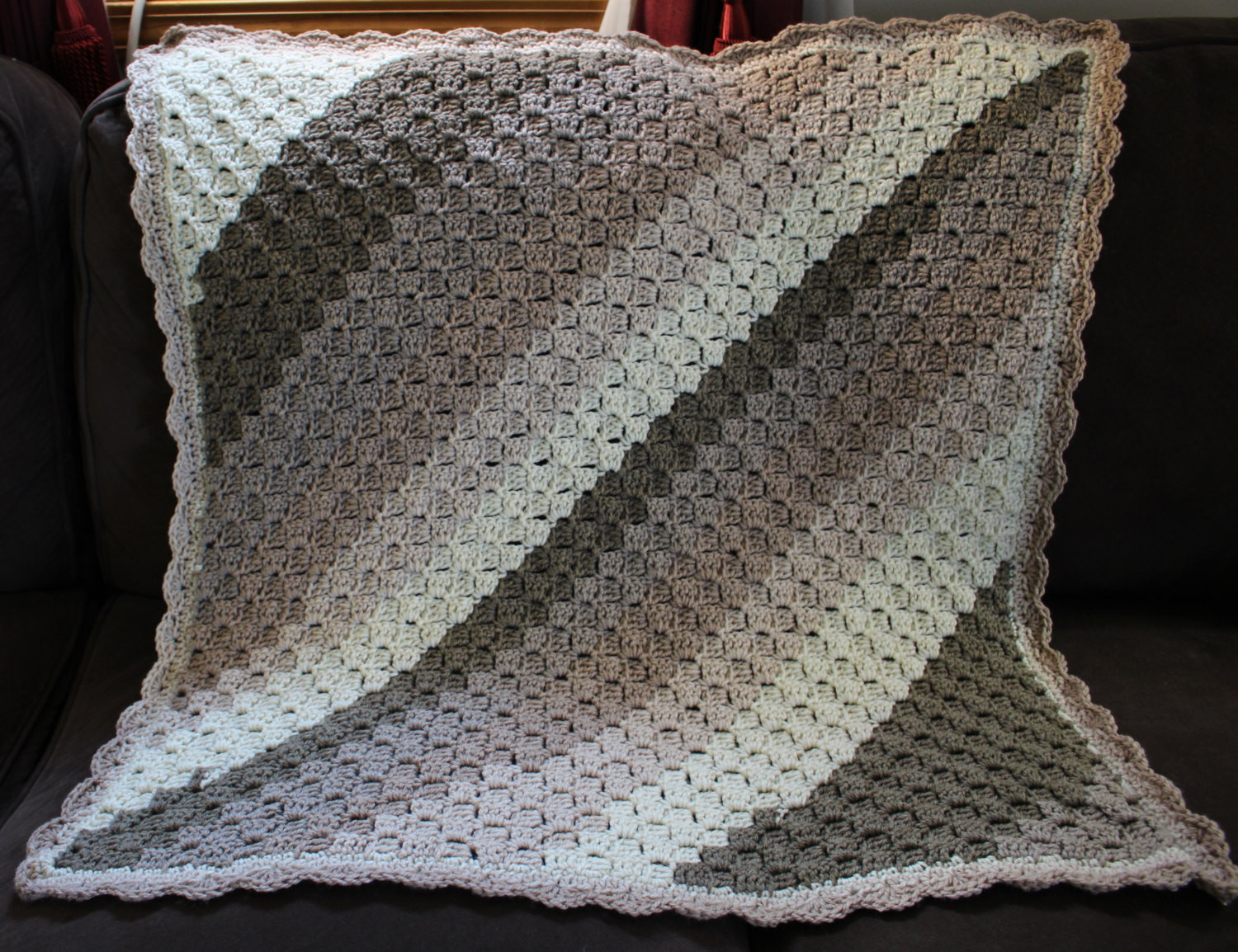 Super Soft Baby blanket 30 by 30 inches Made with Caron