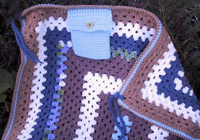 charity lapghan with attached pocket c
