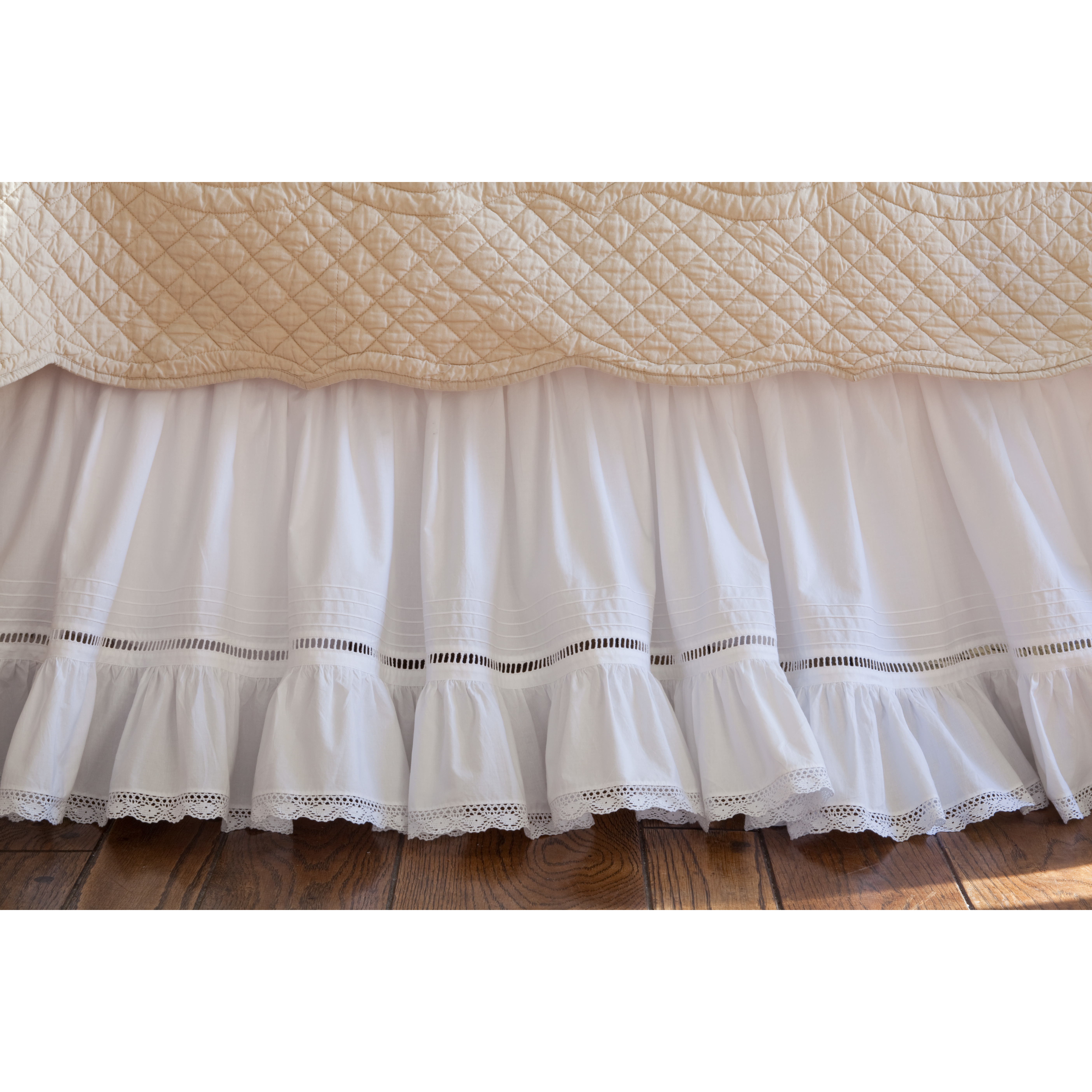 Awesome Taylor Linens Prairie Crochet Cotton Bed Skirt & Reviews Crochet Bed Skirts Of Gorgeous 41 Pics Crochet Bed Skirts