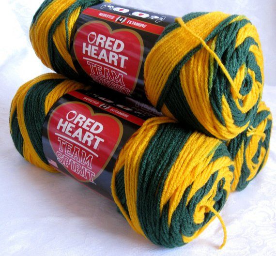 Awesome Team Spirit Yarn Green Gold Yarn Worsted Weight by Crochetgal Red Heart Team Spirit Yarn Of Top 46 Pics Red Heart Team Spirit Yarn