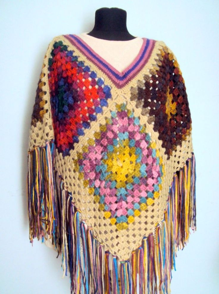 Awesome the 25 Best Granny Square Poncho Ideas On Pinterest Granny Square Poncho Of Adorable 49 Photos Granny Square Poncho