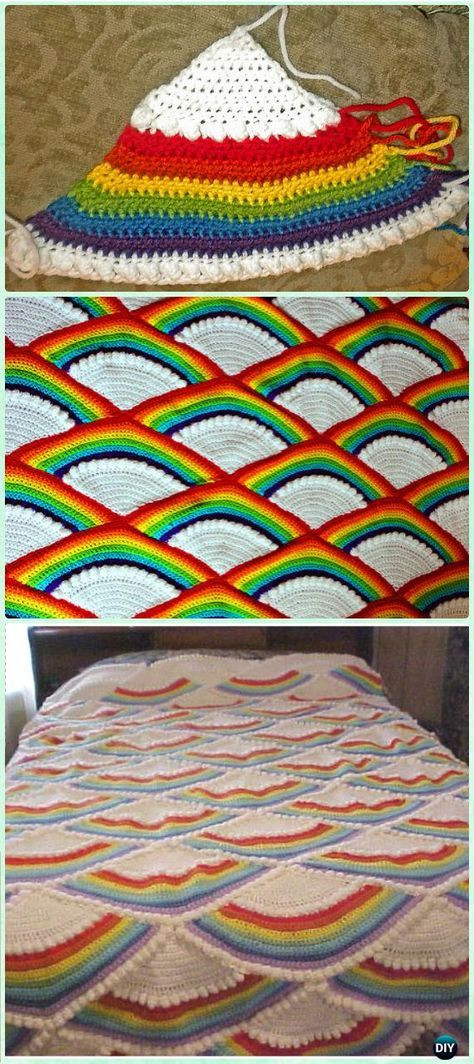 Awesome the 25 Best Rainbow Crochet Blankets Ideas On Pinterest Rainbow Crochet Blanket Of Great 40 Photos Rainbow Crochet Blanket