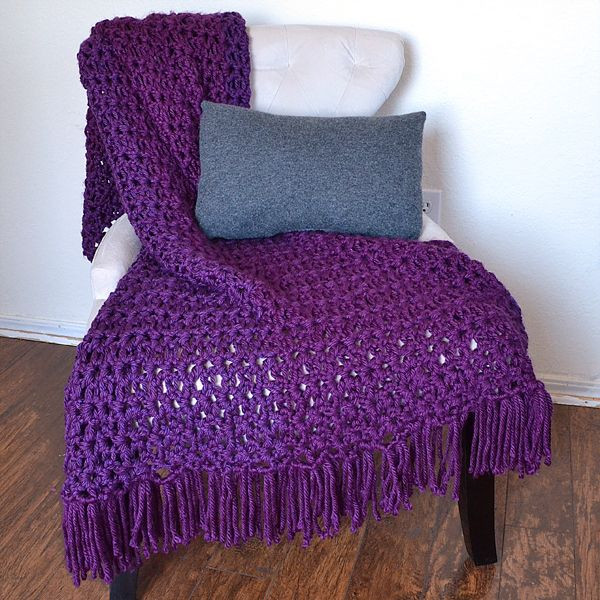 Awesome the 6 Hour Afghan Adding Fringe Tutorial Double Crochet Afghan Of Fresh 42 Images Double Crochet Afghan