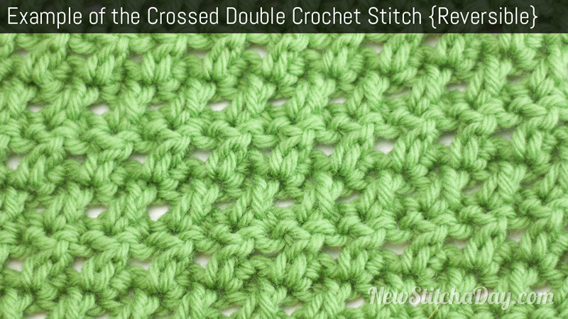 Awesome the Crossed Double Crochet Stitch Crochet Stitch 99 New Crochet Stitches Of Adorable 47 Photos New Crochet Stitches