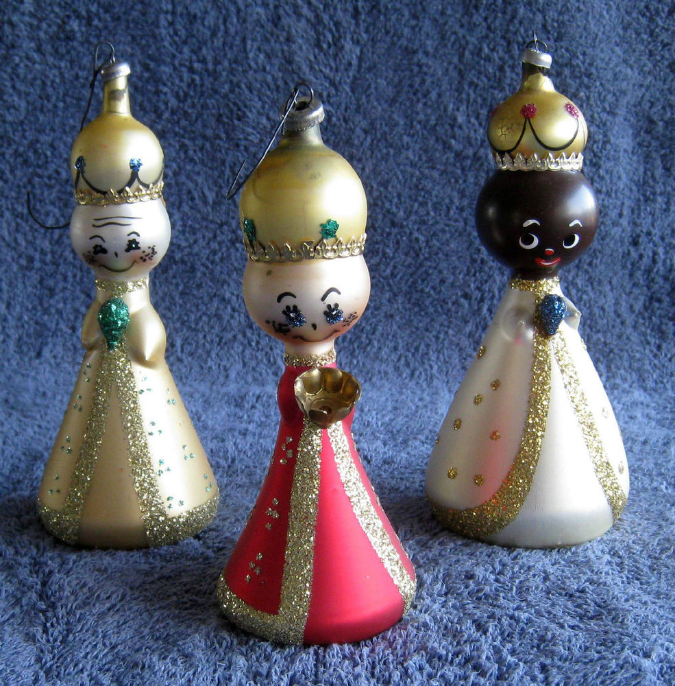 Awesome the Three Wise Men Antique Blown Glass Christmas Tree Vintage Glass ornaments Of New 48 Ideas Vintage Glass ornaments