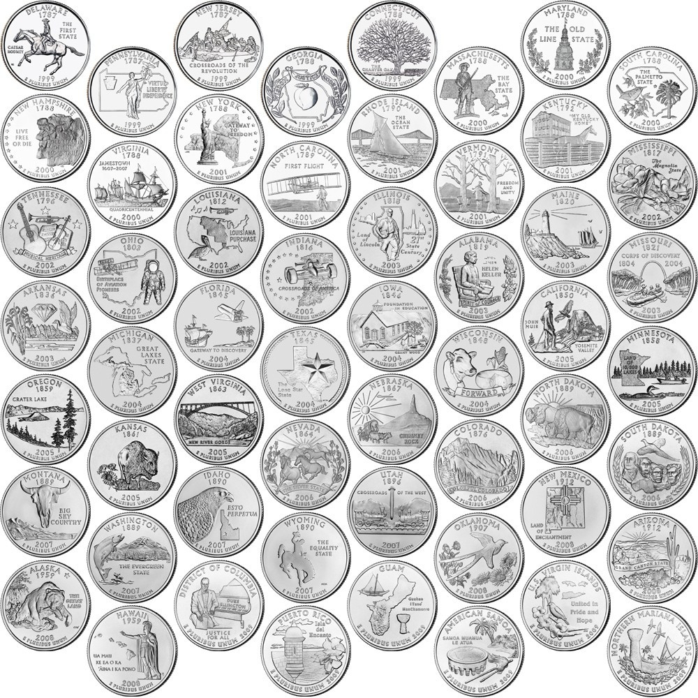 Awesome Those 6 Best State Quarters – Those6things State Quarter Set Value Of Unique 5 Coins 50 State Quarters Proof Set Us Mint 2000 State Quarter Set Value