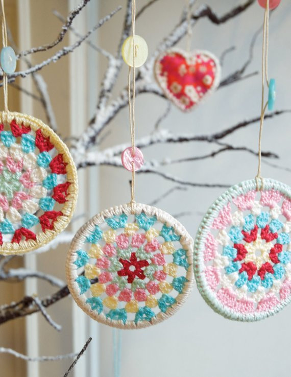 Awesome Three Crocheted Granny Circle Christmas Decorations Crochet Decor Of Brilliant 47 Pics Crochet Decor