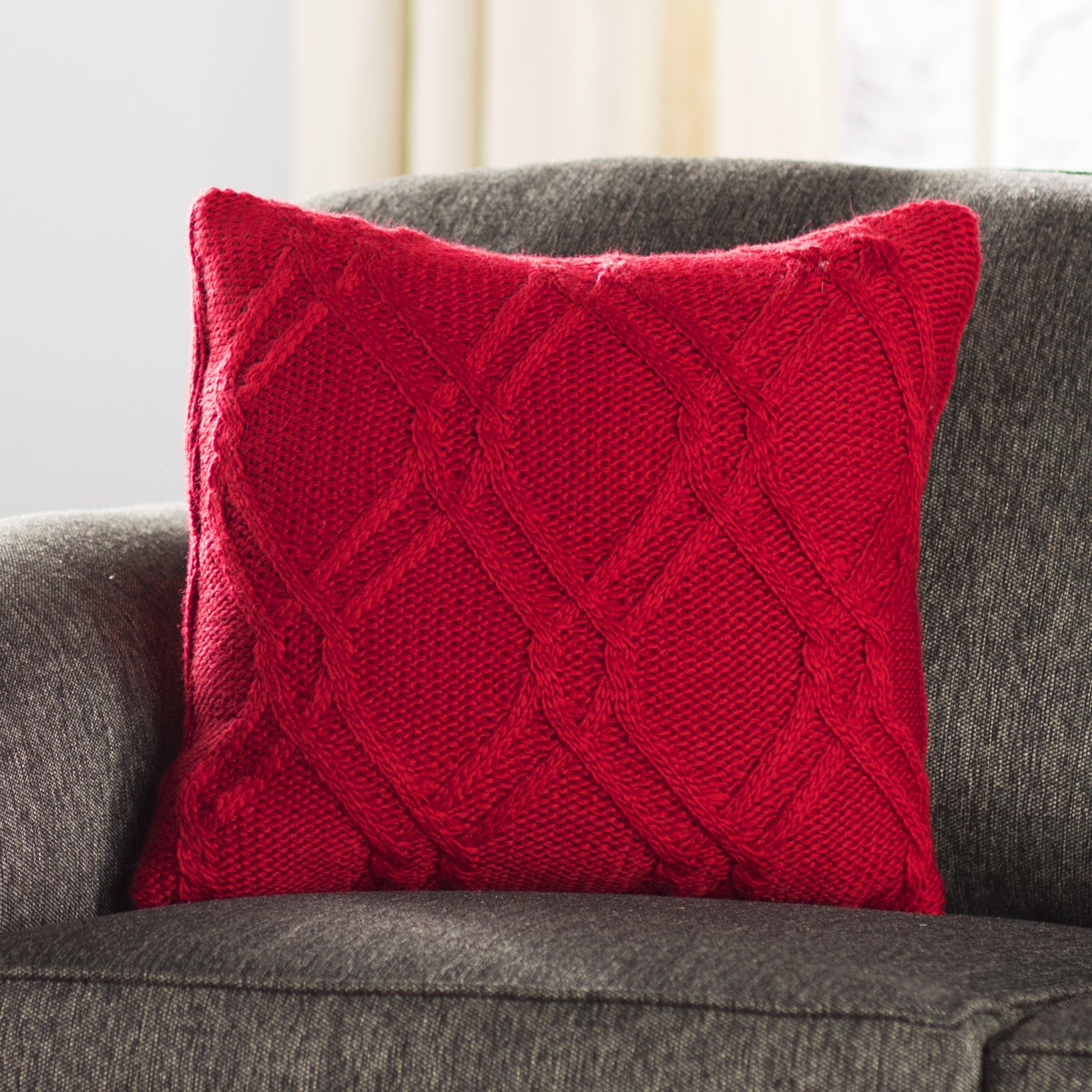 Awesome Three Posts Newmanstown Cable Knit Throw Pillow & Reviews Cable Knit Throw Pillow Of Great 48 Ideas Cable Knit Throw Pillow