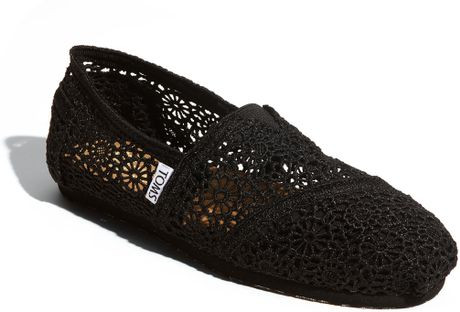 Awesome toms Classic Crochet Slip In Black Black Crochet toms Of Brilliant 48 Pictures Black Crochet toms