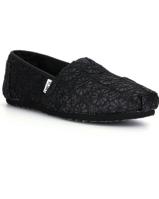 Awesome toms Glitter Crochet Alpargata Shoes In Black Black Crochet toms Of Brilliant 48 Pictures Black Crochet toms
