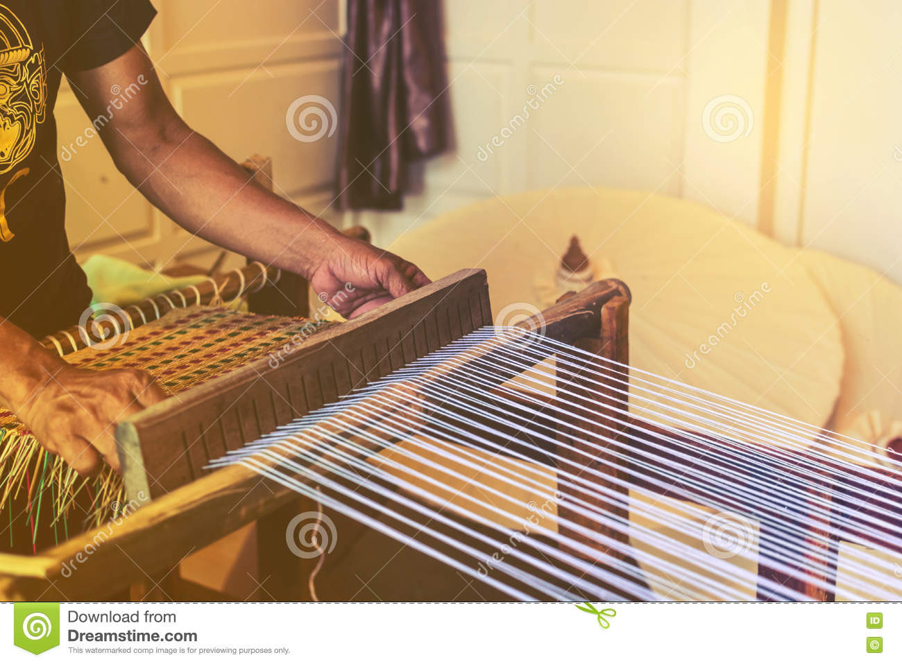 Awesome Traditional Weaving Hand Loom Stock Image Hand Weaving Of Innovative 45 Ideas Hand Weaving