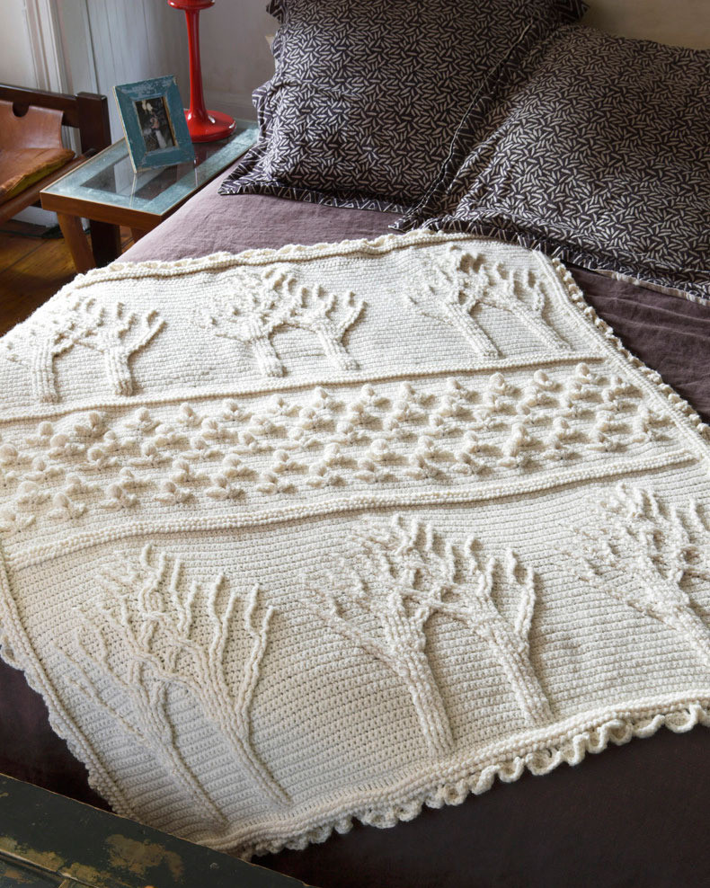 Awesome Tree Life Afghan In Lion Brand Wool Ease Ad Lion Brand Crochet Patterns Of New 46 Ideas Lion Brand Crochet Patterns