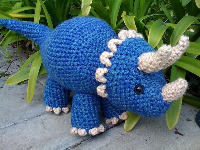 Awesome Triceratops Dinosaur Pattern by Joanne Succari Free Dinosaur Crochet Pattern Of Wonderful 42 Pictures Free Dinosaur Crochet Pattern