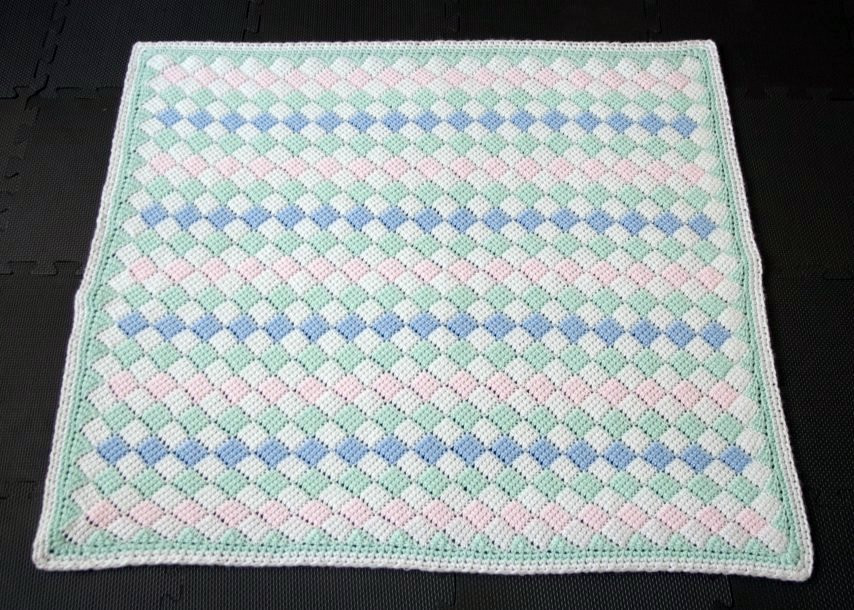 Tunisian crochet baby blanket full size a photo on