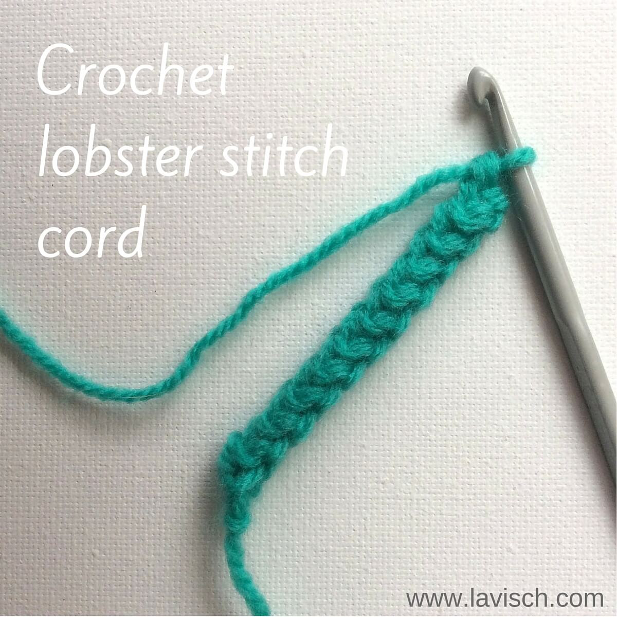 Awesome Tutorial Crochet Lobster Stitch Cord La Visch Designs Crochet Cords Of Attractive 49 Ideas Crochet Cords