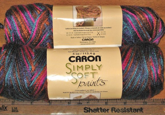 Awesome Two Balls Caron Harlequin Paint Simply soft Yarn Lot 0007 Caron Simply soft Ombre Of Amazing 47 Ideas Caron Simply soft Ombre